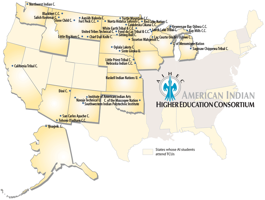 Map of Tribal Colleges and Universities